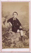Jeune garçon par de Pérol Vincennes France Carte de visite Vintage albumine