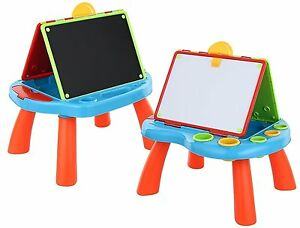 Image Is Loading Childrens Art Desk Easel Blackboard Whiteboard Kids Painting