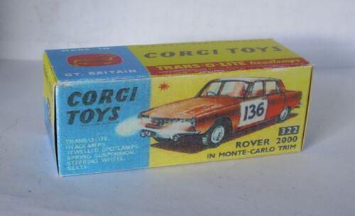 Repro box Corgi nº 322 Rover 2000 Monte Carlo