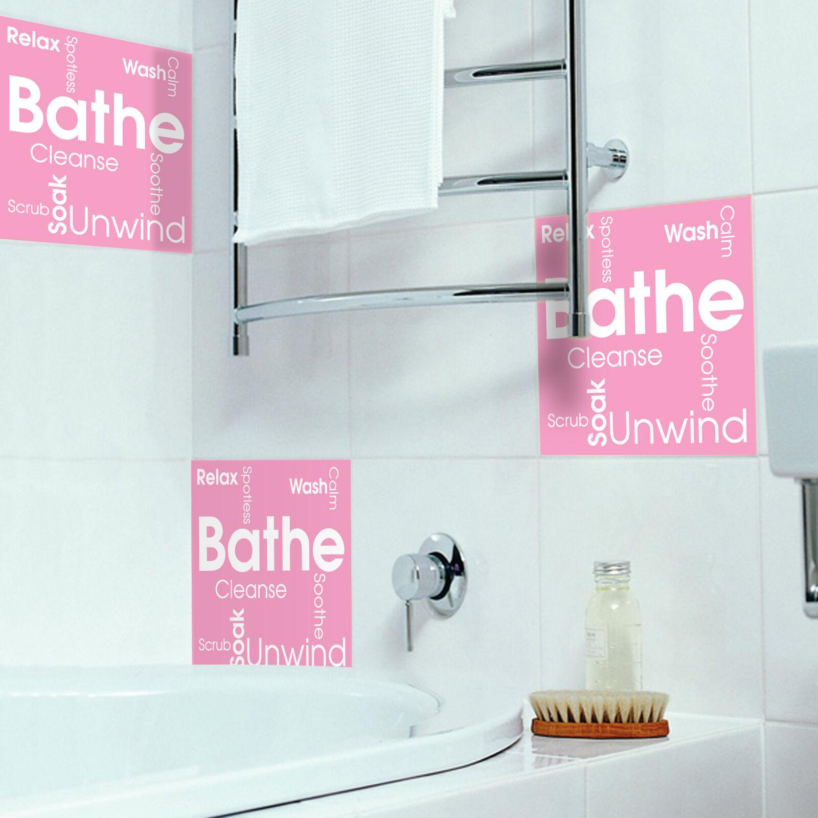 Trasferimento adesivi piastrelle bagno contemporaneo il personalizzata bagno Parola Cloud opzione personalizzata il 26020d
