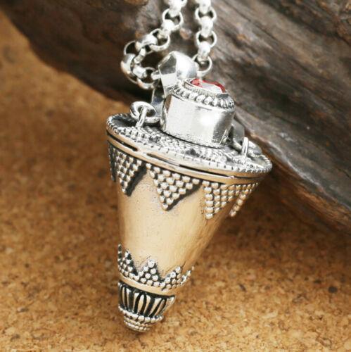I07 Anhänger buddhistisch zum Öffnen Kegel Gawu-Box Sterling Silber 925
