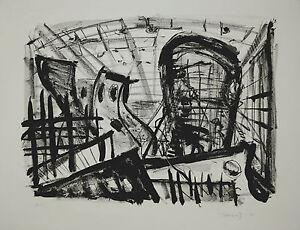 Josef-A-Kutschera-034-Schiffbauhalle-034-Lithographie-1985
