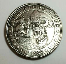 Poker Card Guard~Heads OR Tails~Good Luck~Fantasy~Coin~Silver Dollar Size