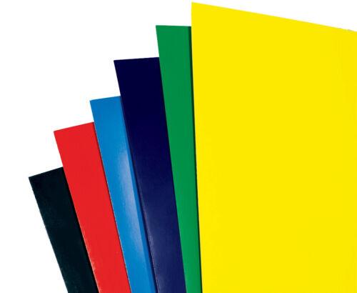 GBC Einbanddeckel HiGloss DIN A4 250 g//qm blau 100 Stück