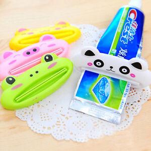 2x Cartoon Toothpaste Easy Dispenser Home Rolling Tube Holder Squeezer Bathroom