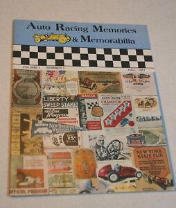 AUTO-RACING-MEMORIES-amp-MEMORABILIA-VOL-1-NUM-1-FALL-1981-DAYTONA-BOARD-TRACKS