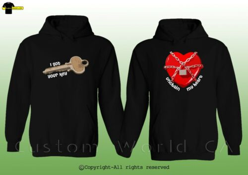 His And Hers Couple Clothes Couple Hoodie I Got Your Key /& Unchain My Heart