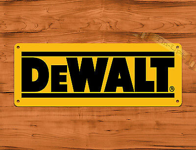 Tin Sign Dewalt Yellow Tools Tractor Farm Garage Wall Decor Ebay
