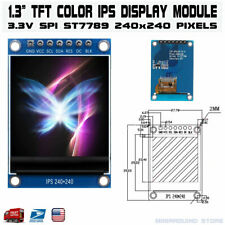 13 Inch Color Ips Tft Lcd Display Screen Module St7789 7 Pin 4 Wire Spi Port