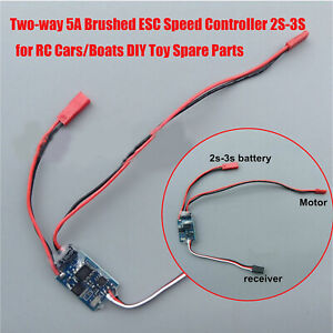 Two-way-5A-Brushed-ESC-Speed-Controller-2S-3S-for-RC-Cars-Boats-DIY-Accessories