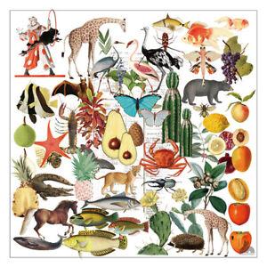 50Pcs-Animals-Retro-Pattern-Vellum-Paper-Die-Cuts-Scrapbooking-Diary-Planner-DIY
