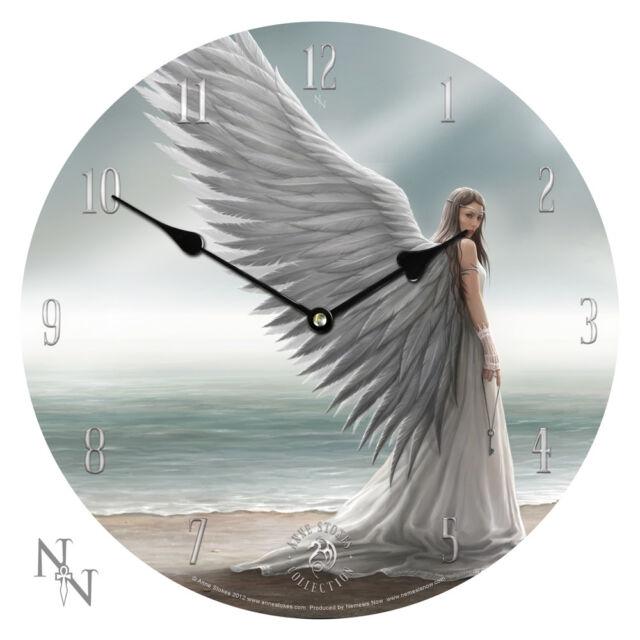Fantasy Gothic Angel ~ Spirit Guide ~ Anne Stokes  Wall Clock Art ~ 34cm ~ Gift