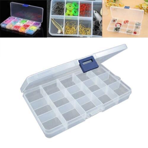 15 Grid Fishing Gear Accessories Box Removable Transparent Plastic Box Parts Box