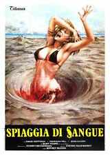 Blood Beach Poster 02 A3 Box Canvas Print