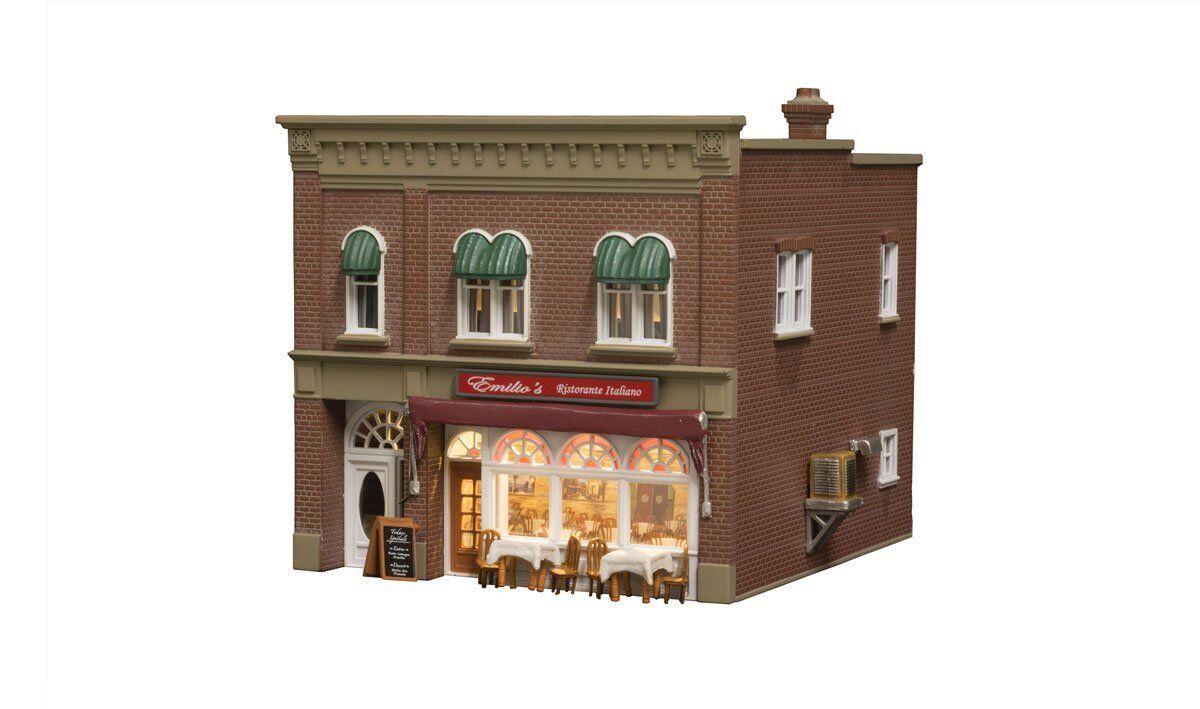 Woodland Scenics BR5055, HO Scale, Emilio's Italian Restaurant, Built-Up & LED
