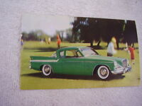 1961 Studebaker Hawk Original Color Dealer Postcard Unused