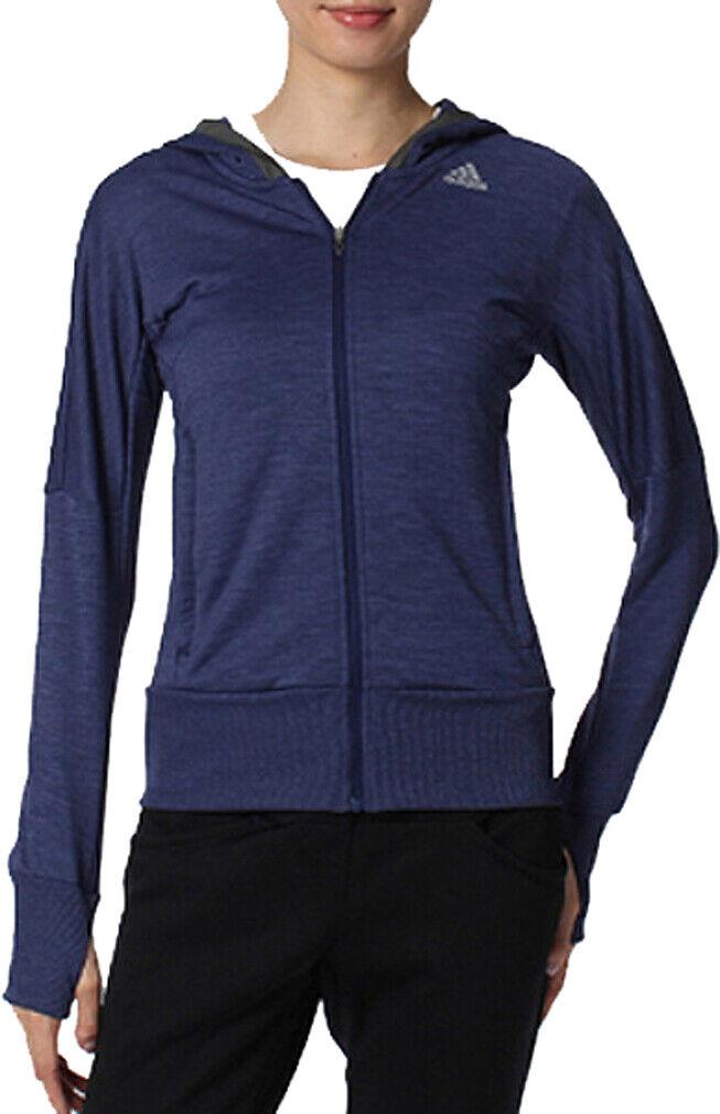 Adidas Beyond The Run Womens Running Hoody - bluee