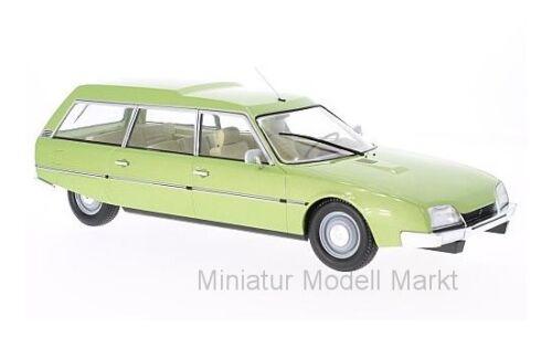 MCG CITROEN CX 2400 SUPER BREAK SERIE I-metallico-VERDE #18087 1976-1:18