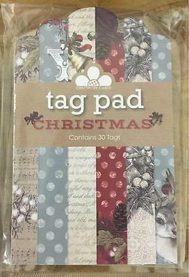 Craftwork Cards The Magic Of Christmas Tags Pad / 30 Patterned Tags