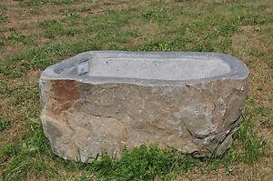 Naturstein Trog Aus Granit Findling Steintrog Pflanztrog