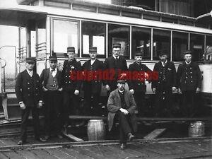1891 oregon portland city amp suburban trolley car barn and crew