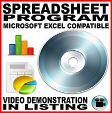 Excel Equivalent for Microsoft Windows: PC DVD 2010 2013 Software MS Spreadsheet