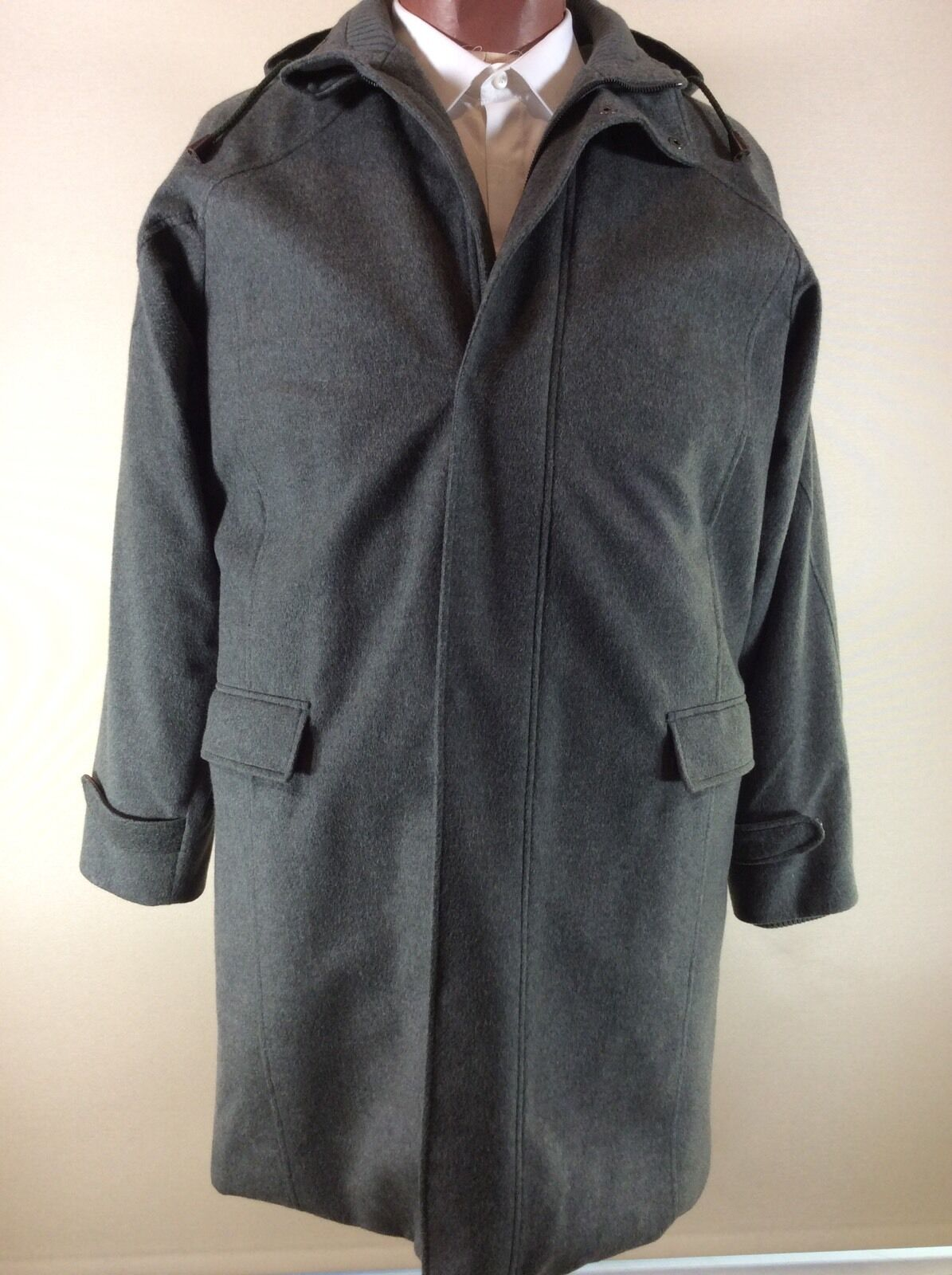 LORO PIANA Storm System Cashmere Coat With Detachable Hood--NWT