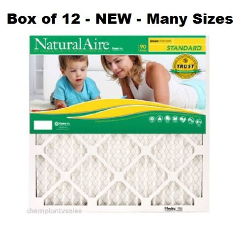 Many Sizes 12 PACK Flanders Natural Air Standard Pleated Air Filters MERV 8