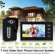 """7"""" Fingerprint Recognition Video Door Phone Doorbell Home Intercom System US"""