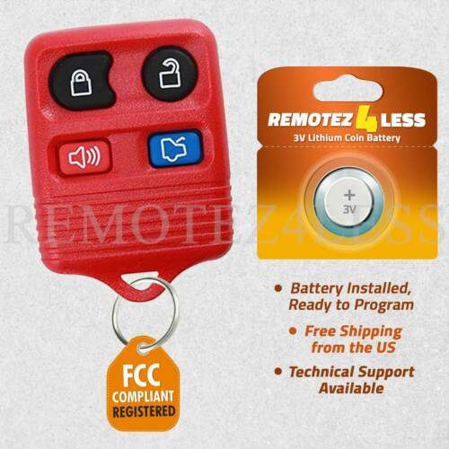 Keyless Remote for 2006 2007 2008 2009 2010 2011 2012 2013 Lincoln MKX Red