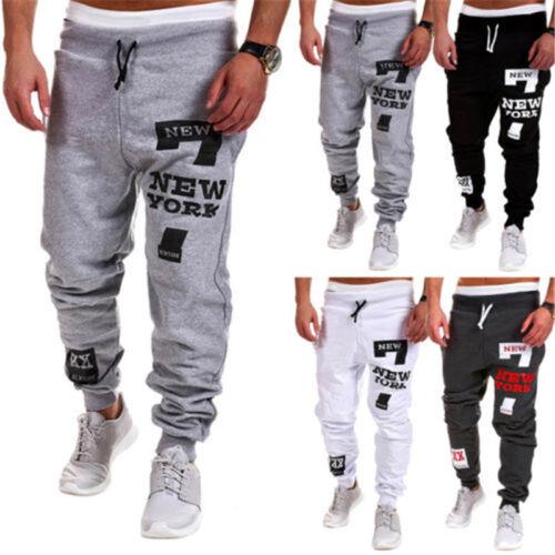 Men Loose Fit Elastic Sweatpants Harem Pants Casual Sport Jogger Bottom Trousers