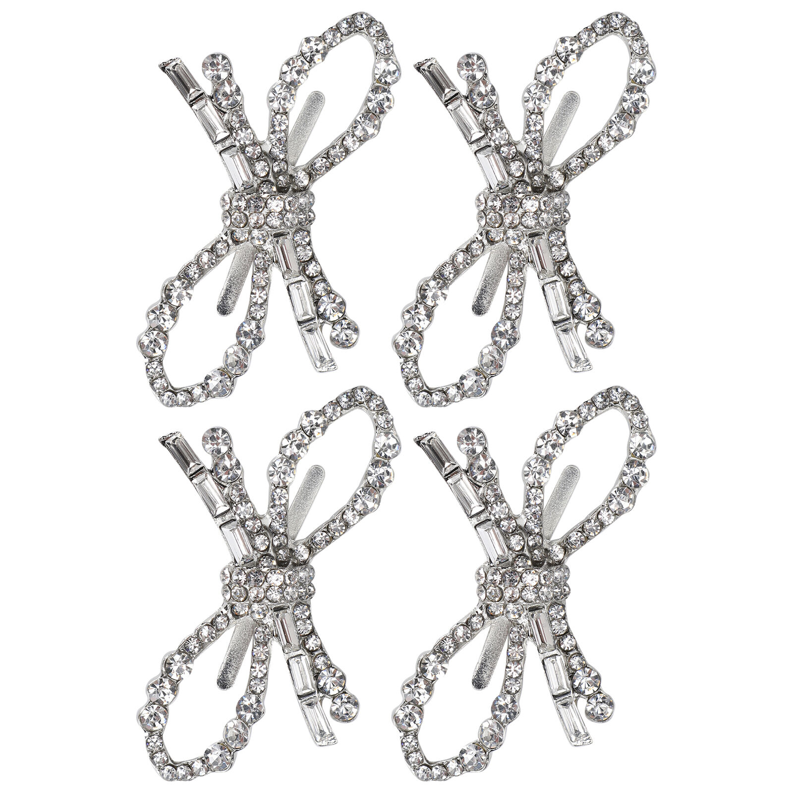 4Pcs Pearl Decorations Fashion Shoe Clips Alloy Jewelry Ornaments Craft