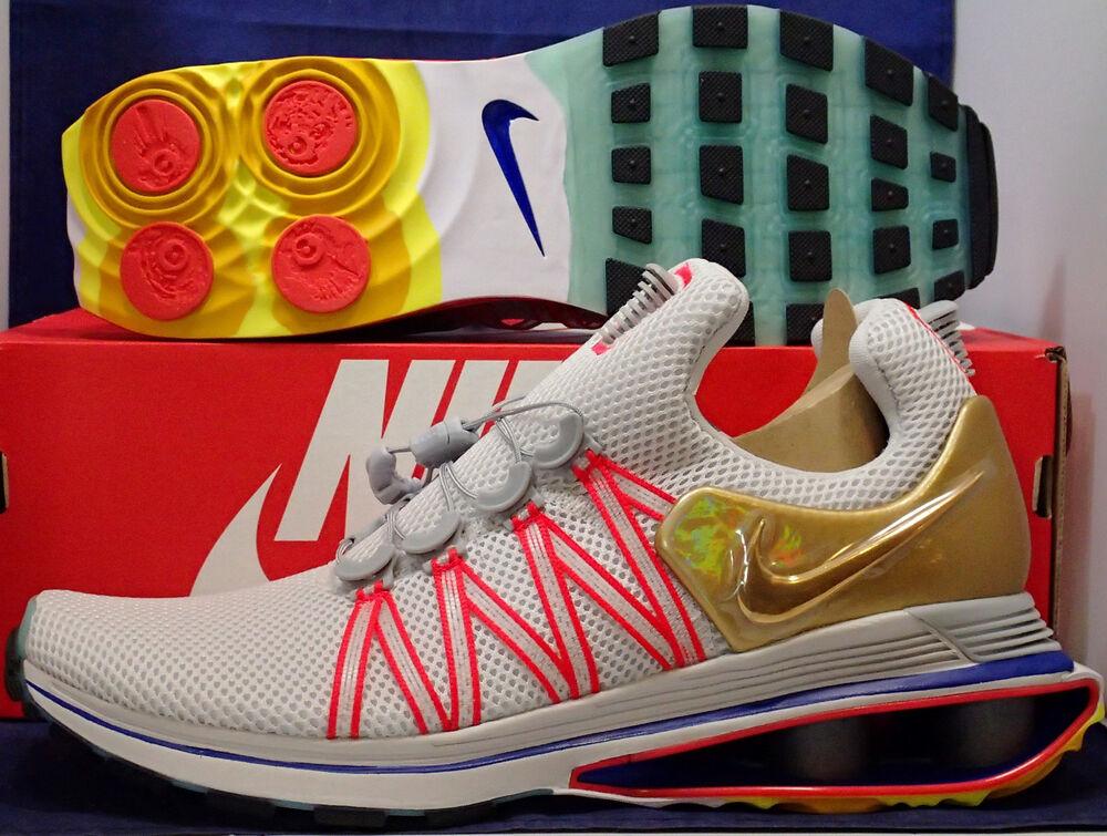 Nike Shox Gravity Vast Gris Metallic Gold SZ 10.5 ( AQ8553-009 )