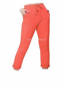 Mujer Liso Algodon Suave Pantalones Italiano Jogging Elasticos Pantalon De Yoga Ebay