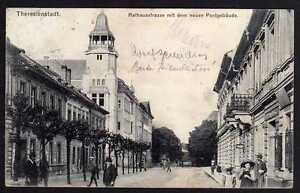 78574 Ak Theresienstadt Rathausstrasse Neue Post 1910 Modischer In Stil;
