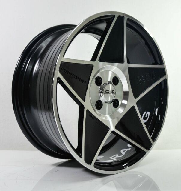 Rims For Cheap >> 4pcs Oz Racing 17inch 8j 4x100 4x114 3 Alloy Wheels Cheap Car Rims Black Star 3