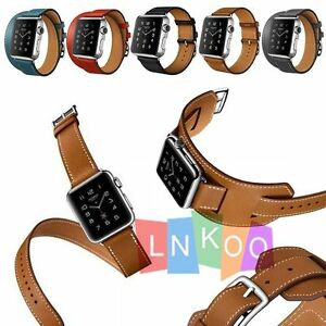 Apple-Watch-Band-Double-Tour-Single-Tour-Cuff-Bracelet-Strap-For-iWatch-38-42mm