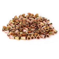 100x Rivet Nuts Tools Carbon Steel Threaded Insert Nut 14 20 Flat Head Nuts Us