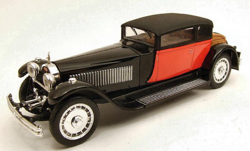 Bugatti 41 Royale Weymann 1929 rosso   nero 1 43 Model RIO4227 RIO