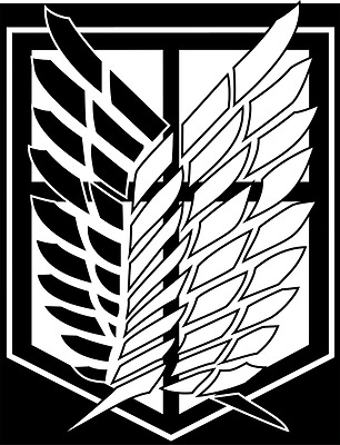 Attack on Titan Scouting Legion Survey Corps car decal ver 2 sticker