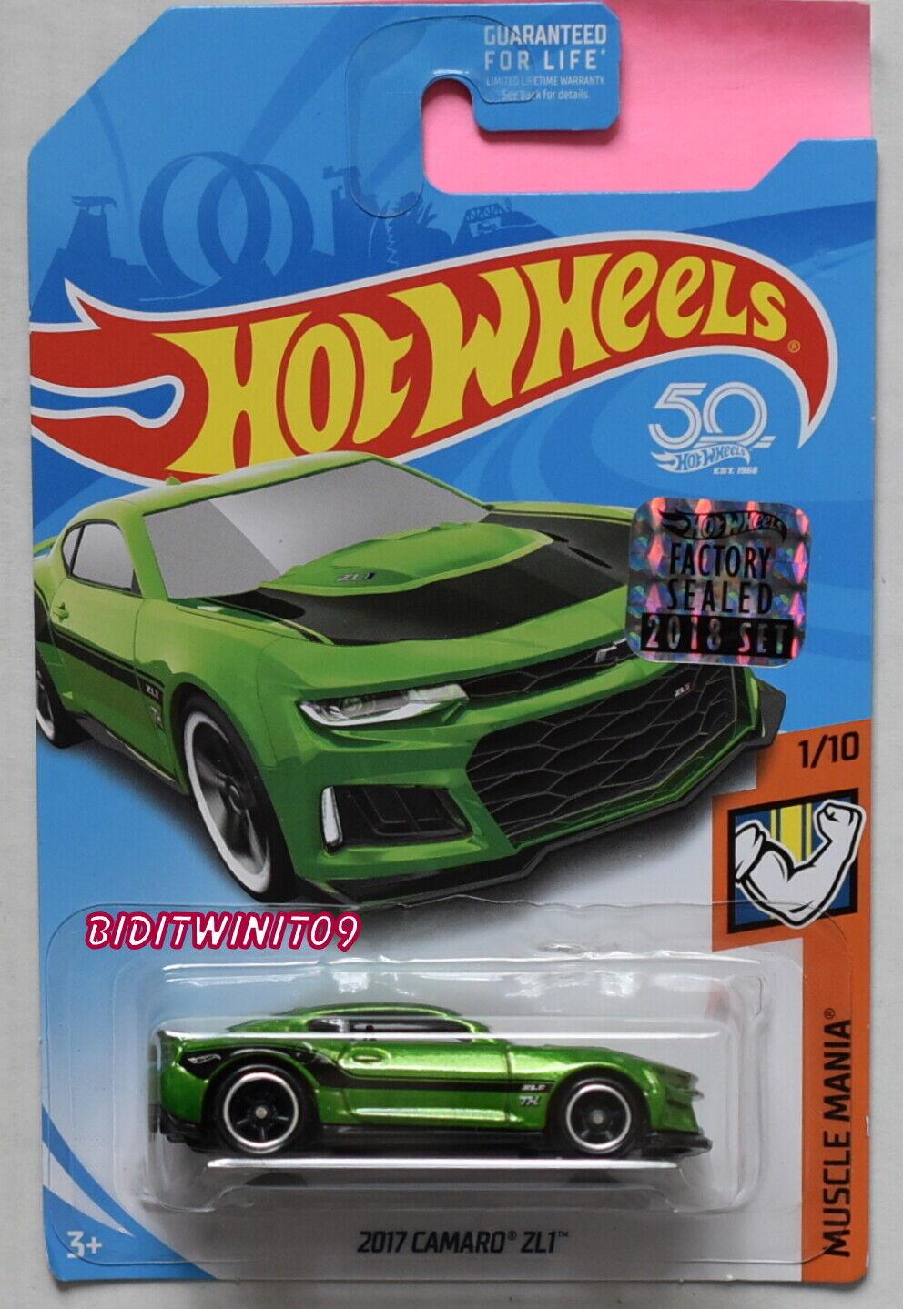 Hot Wheels 2018 Súper Treasure Hunt 2017 Camaro Zl1 Muscle Mania