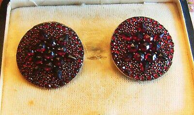 Antik Jugendstil Um 1900 Prächtige 2,8 D Granat Sterne Silber Ohrringe Ohrclips Produkte Werden Ohne EinschräNkungen Verkauft