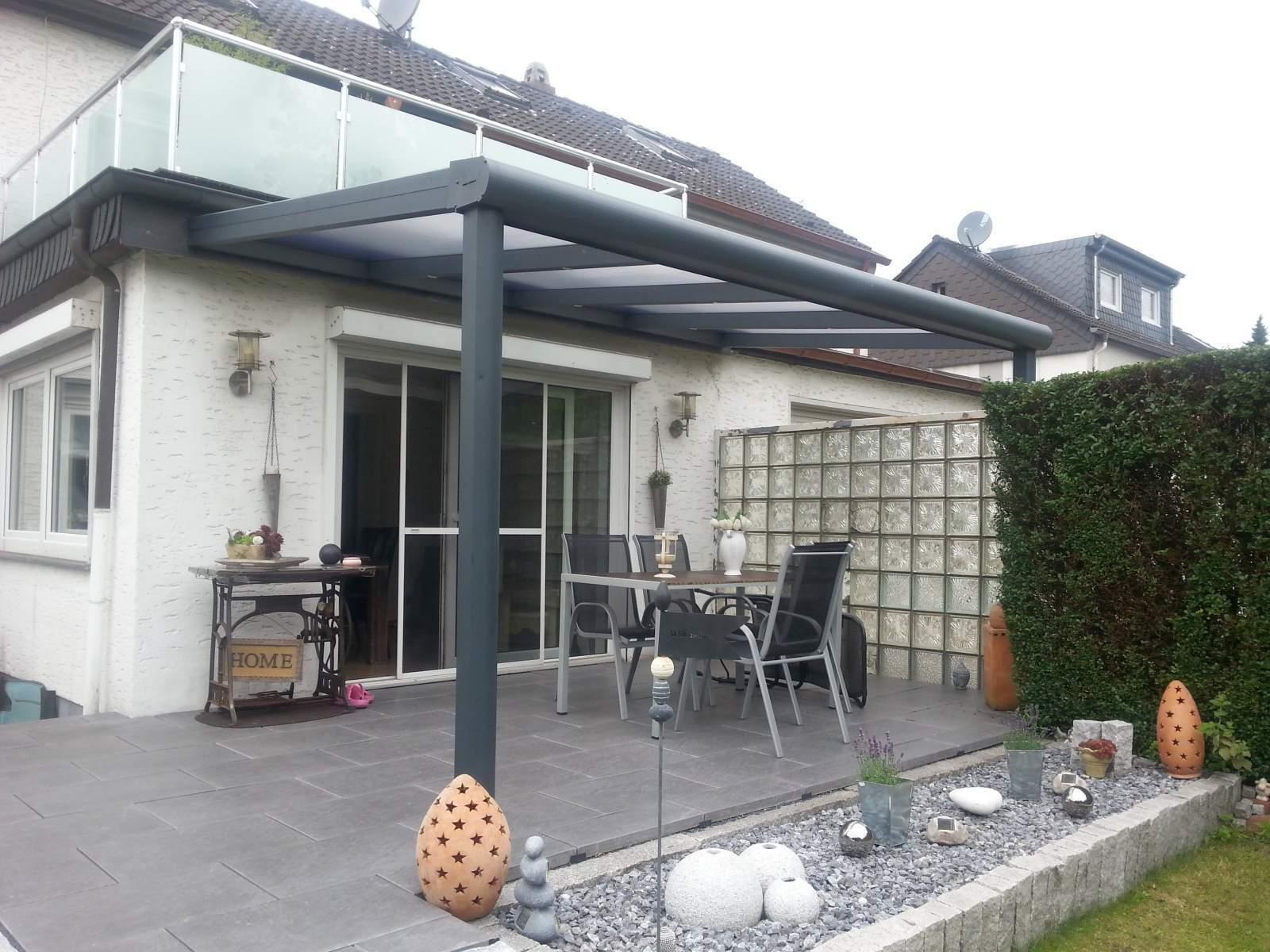 Terrassendach Alu Stegplatten 300kg Tragkraft klar Terrassenüberdachung 4m breit
