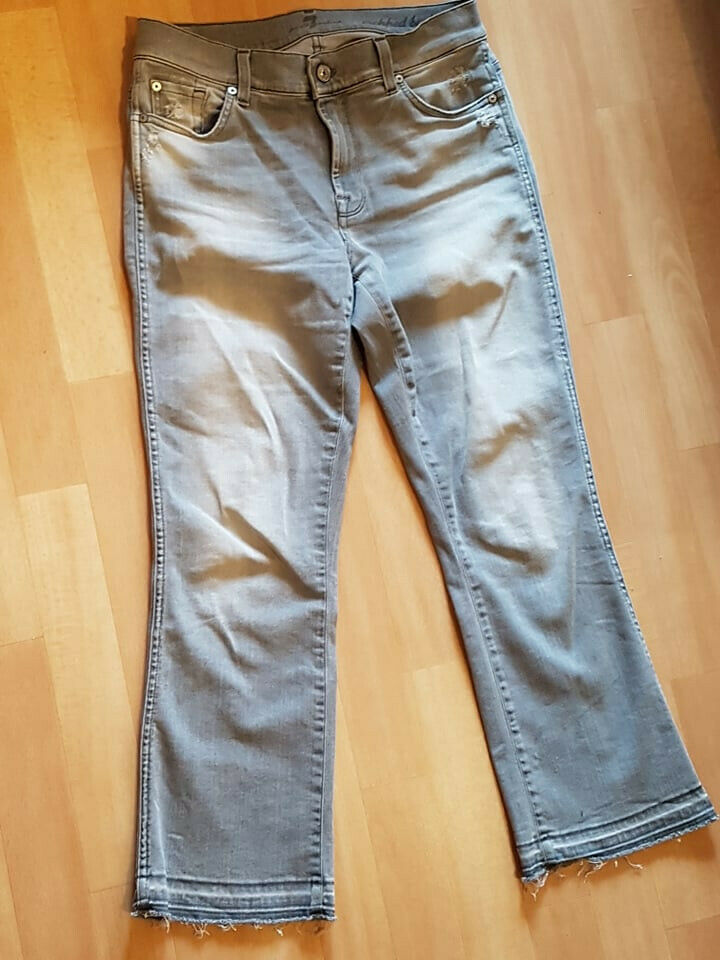 7 For All Mankind Cropped Stiefel Unrolled Unrolled Unrolled 7 8 Jeans Gr. 28 hellgrau grau | Bekannt für seine schöne Qualität  f18b4b