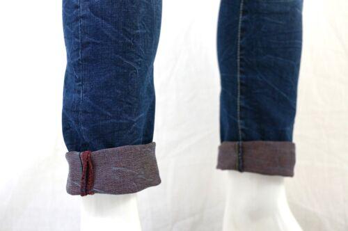 COPPER RIVET Men/'s SKINNY FIT Tapered Leg Jeans Denim Pants Size 32-42