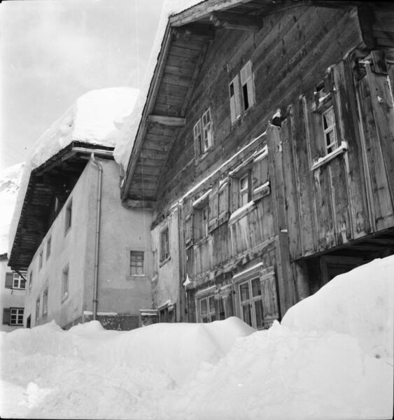 Garmisch C. 1937 - Chalets Neige Allemagne - Négatif 6 X 6 - All 56 Longue DuréE De Vie
