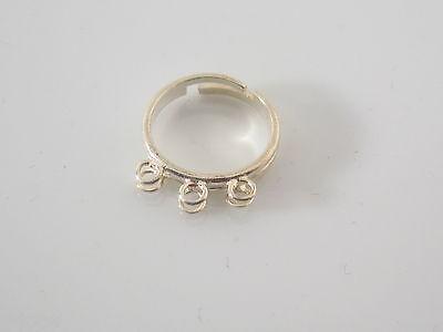 base anello in lastrina argento 925 sterling 2 la base e  aperta