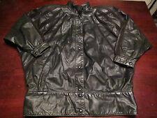 Vtg Womens Leather Fight Club Motorcycle Biker Babe Mod Indie Jacket Coat Sz M