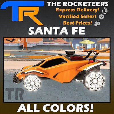 Pc Steam Rocket League Every Painted Santa Fe Exotic Wheels Impact Crate New Ebay