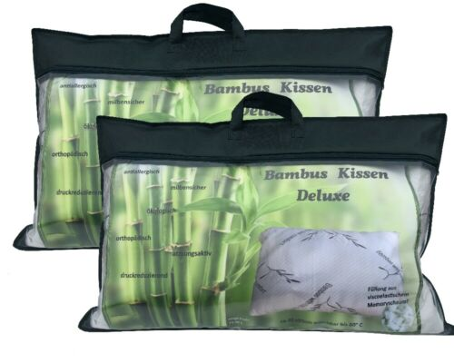 Feprom Bambuskissen  40x80 cm Kopfkissen Antibakteriell Allergiker Kissen Piiow